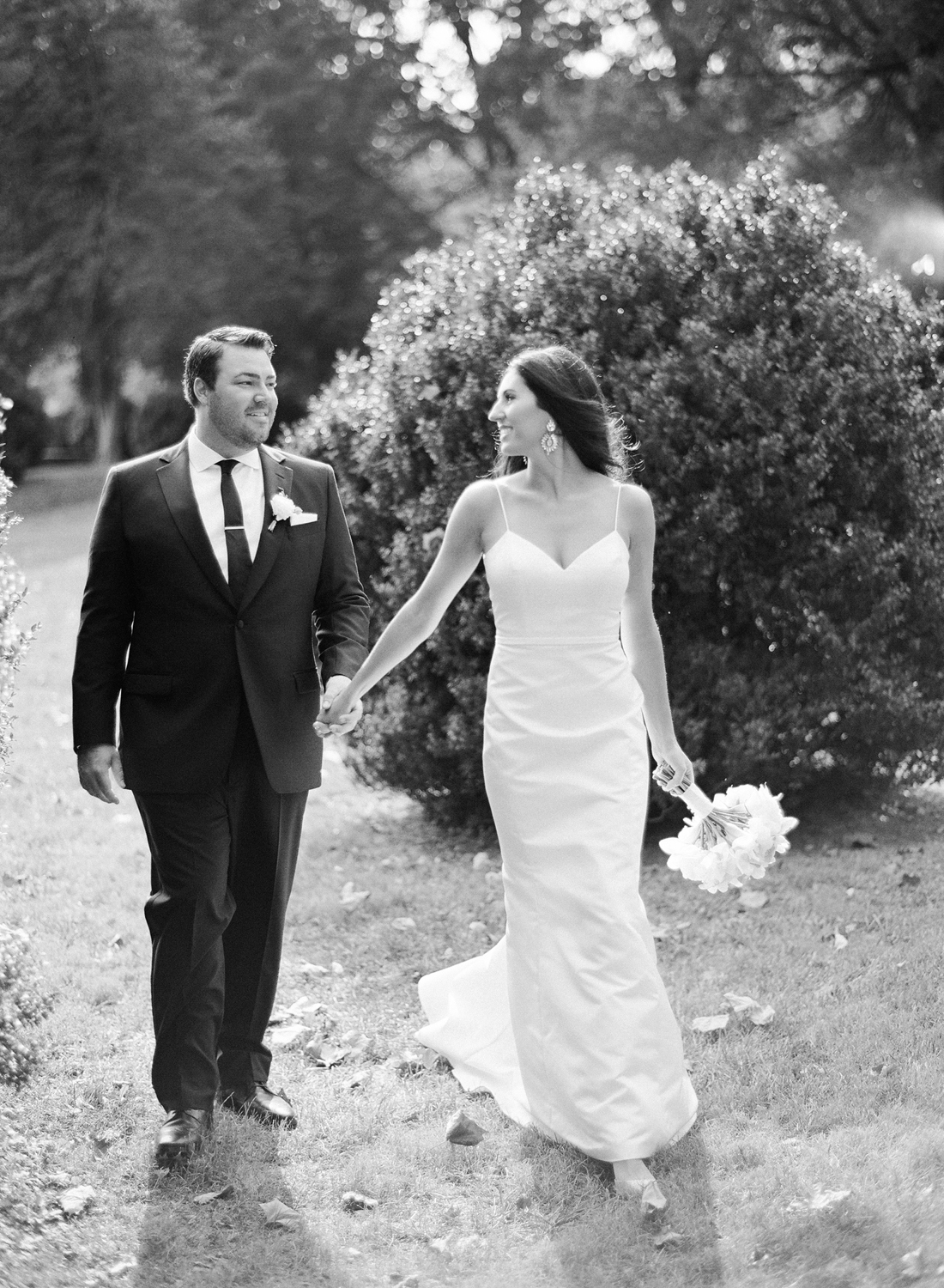 black and white film photographer, morven park wedding