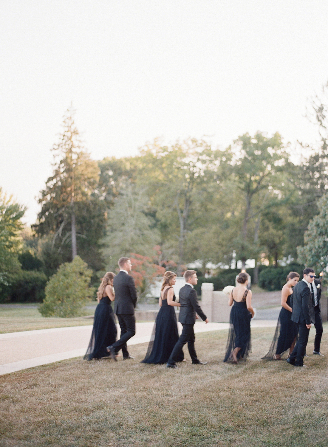 fine art film bridal party