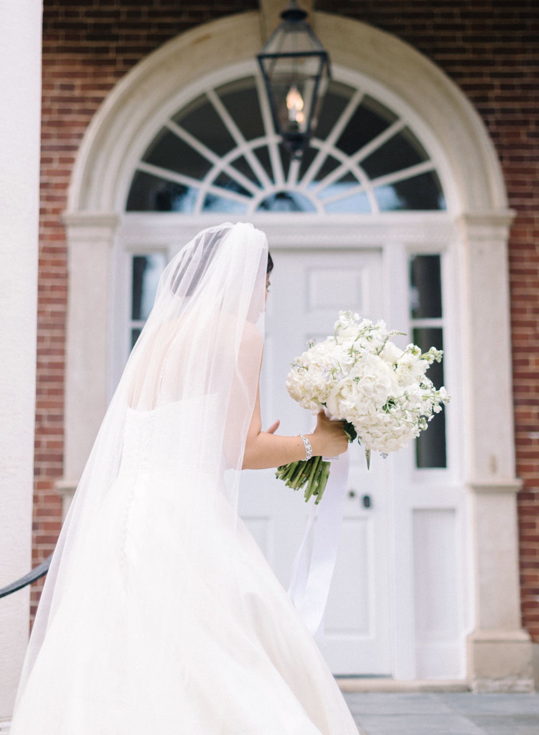 fine art film black and white wedding ceremony at dumbarton house dc