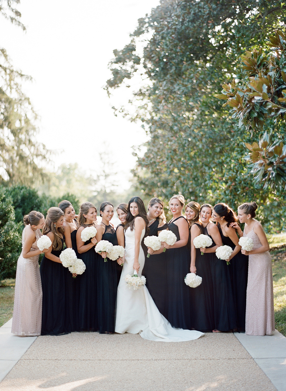 Large group bridesmaids washington dc