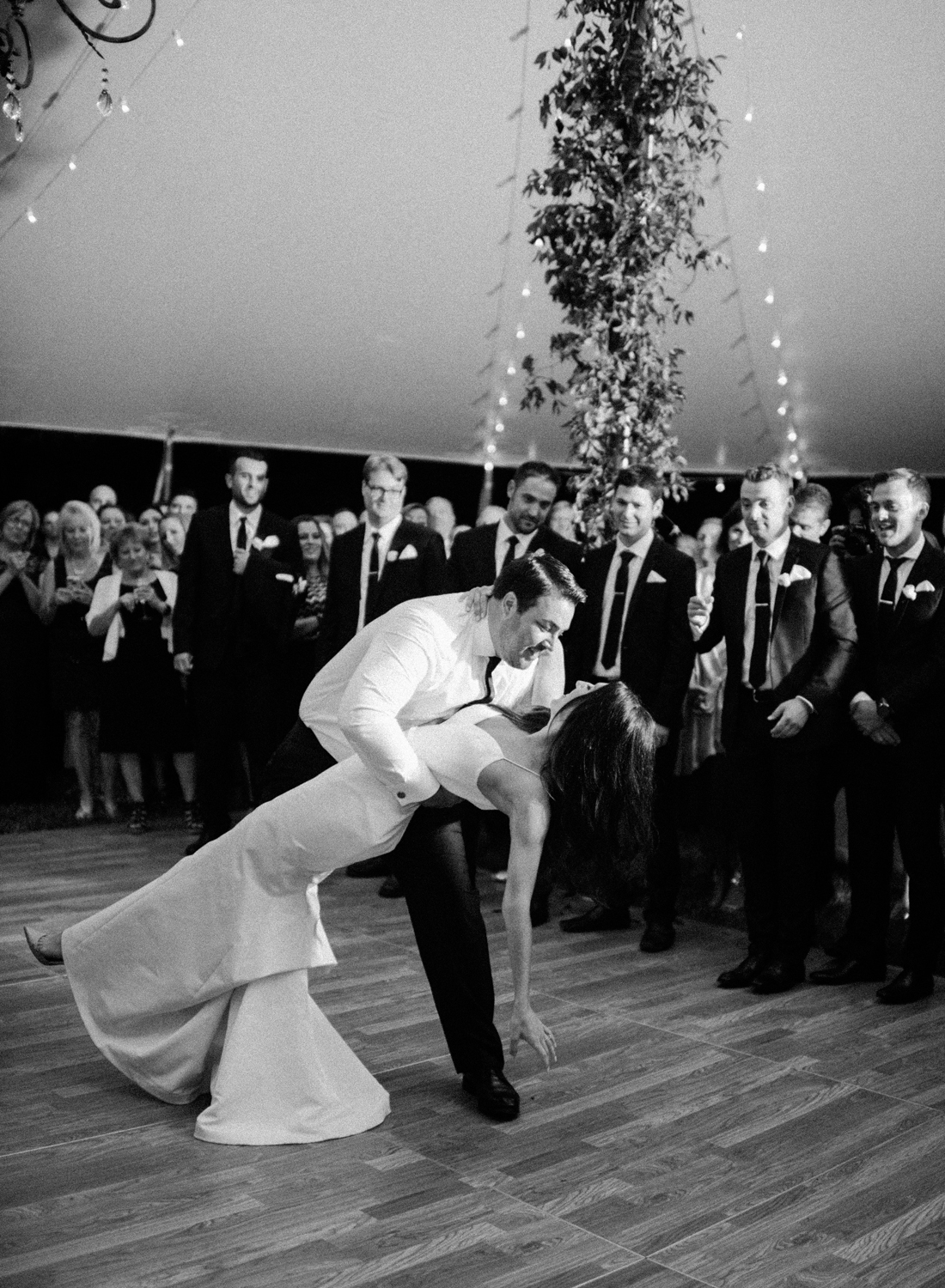 black and white film photographer, morven park wedding first dance