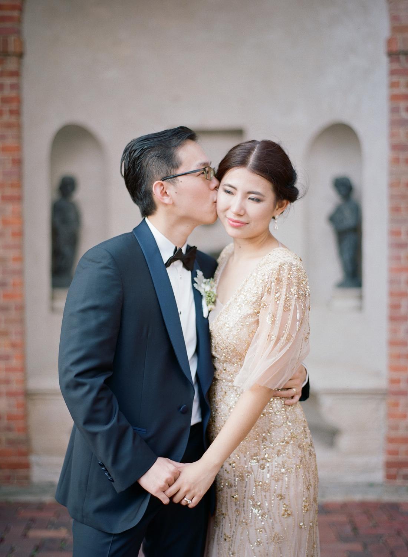 gold bridal dress, fine art film washington dc wedding photographer