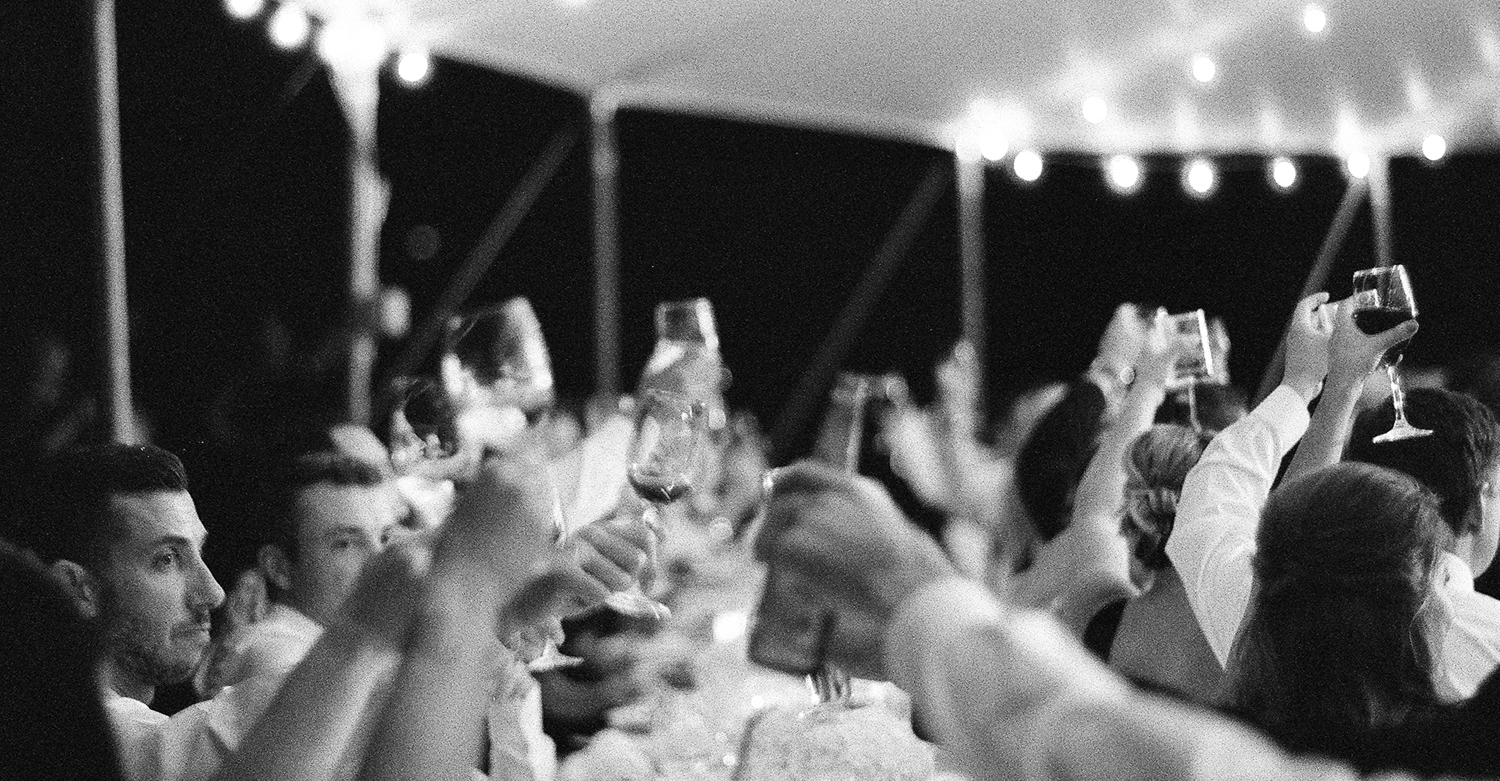 morven park wedding, black and white film photographer, toasts