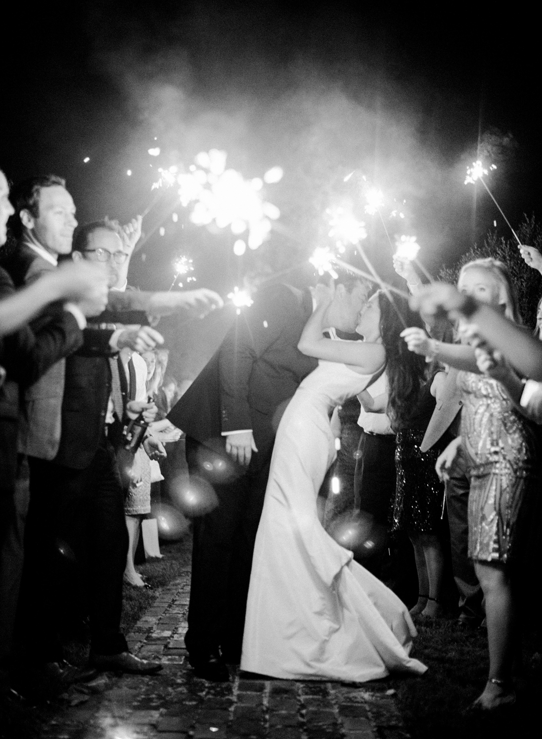 black and white film photographer, sparkler exit at morven park