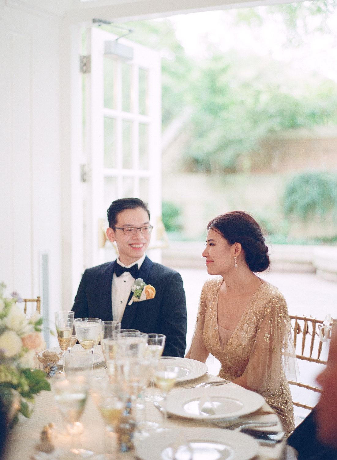 fine art film dumbarton house wedding reception