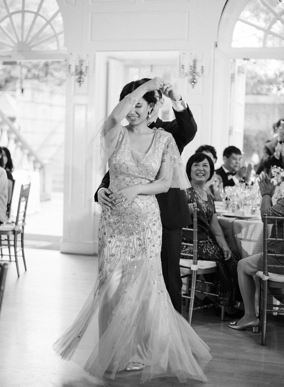 black and white film wedding reception, dumbarton house dc