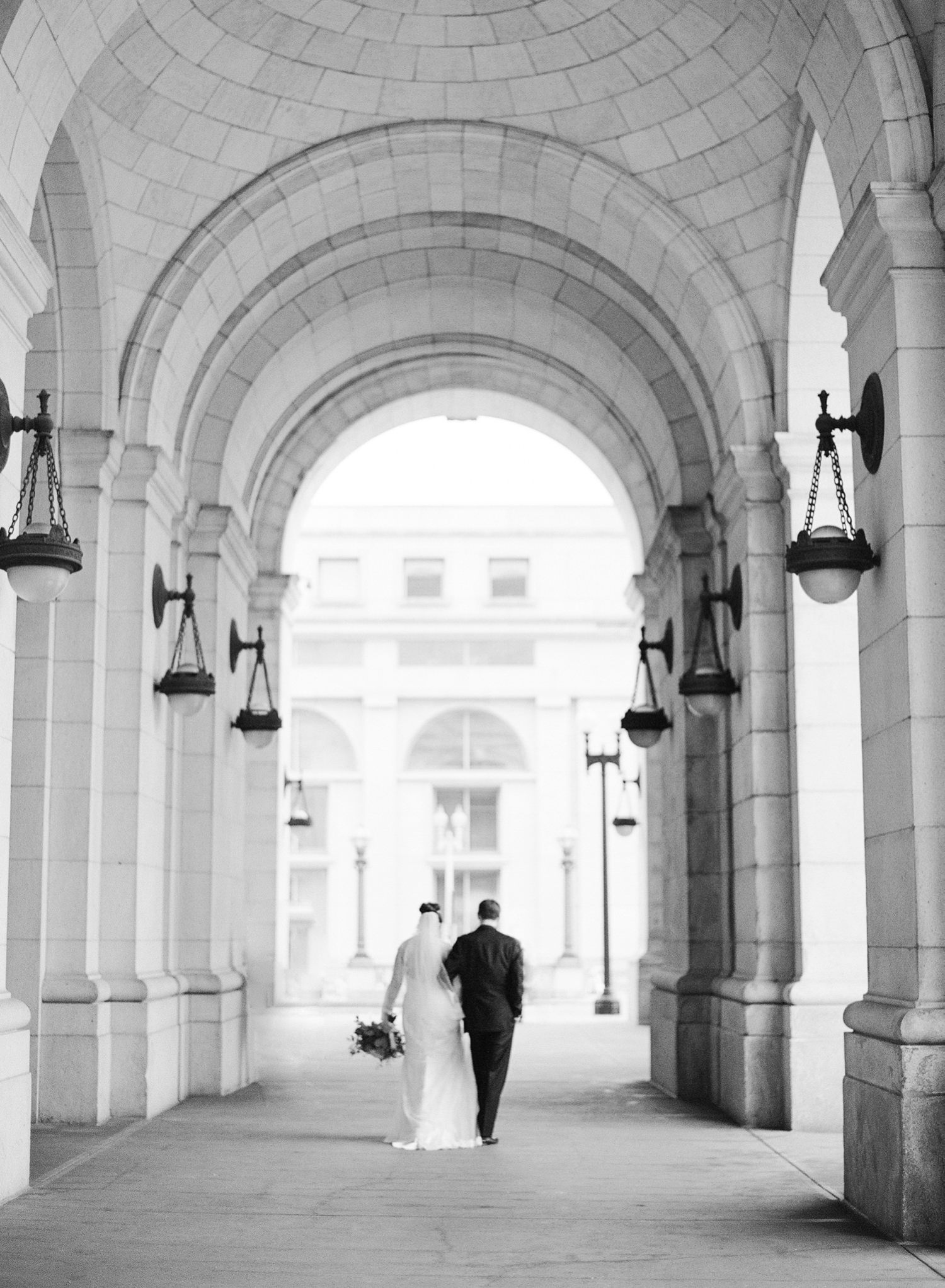 union station wedding photos on film
