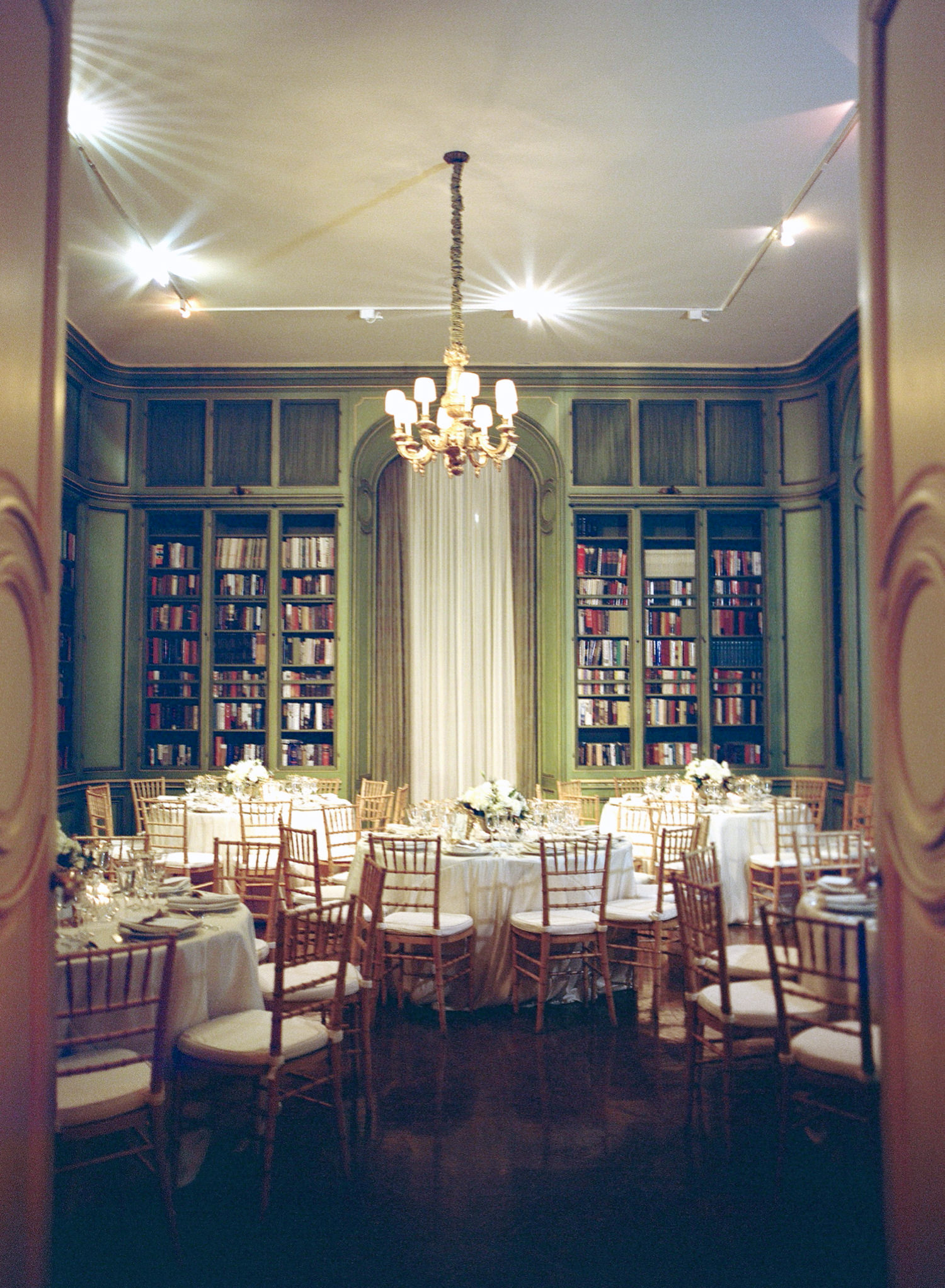 meridian house reception decor library