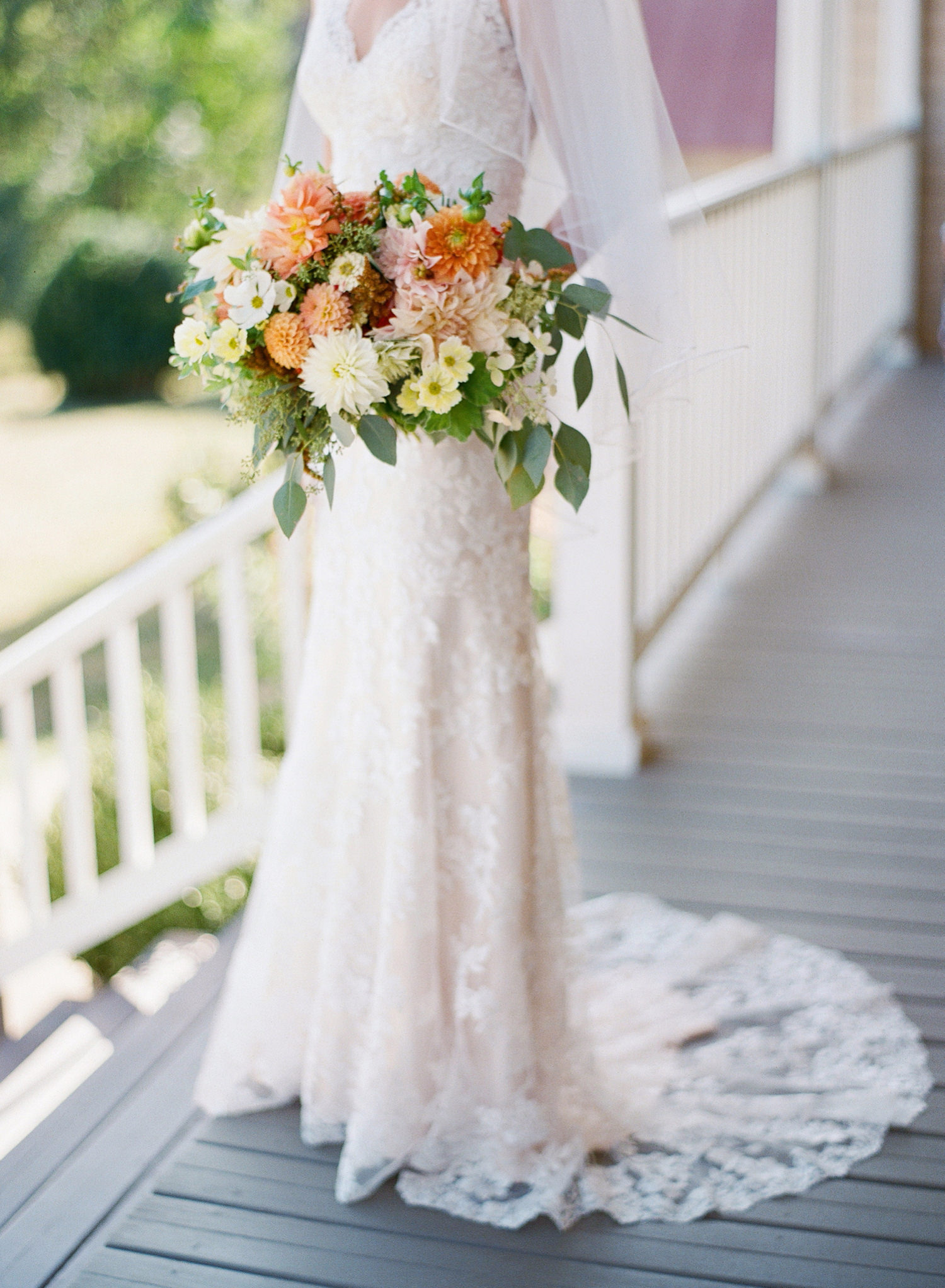 fine art fall bridal bouquet