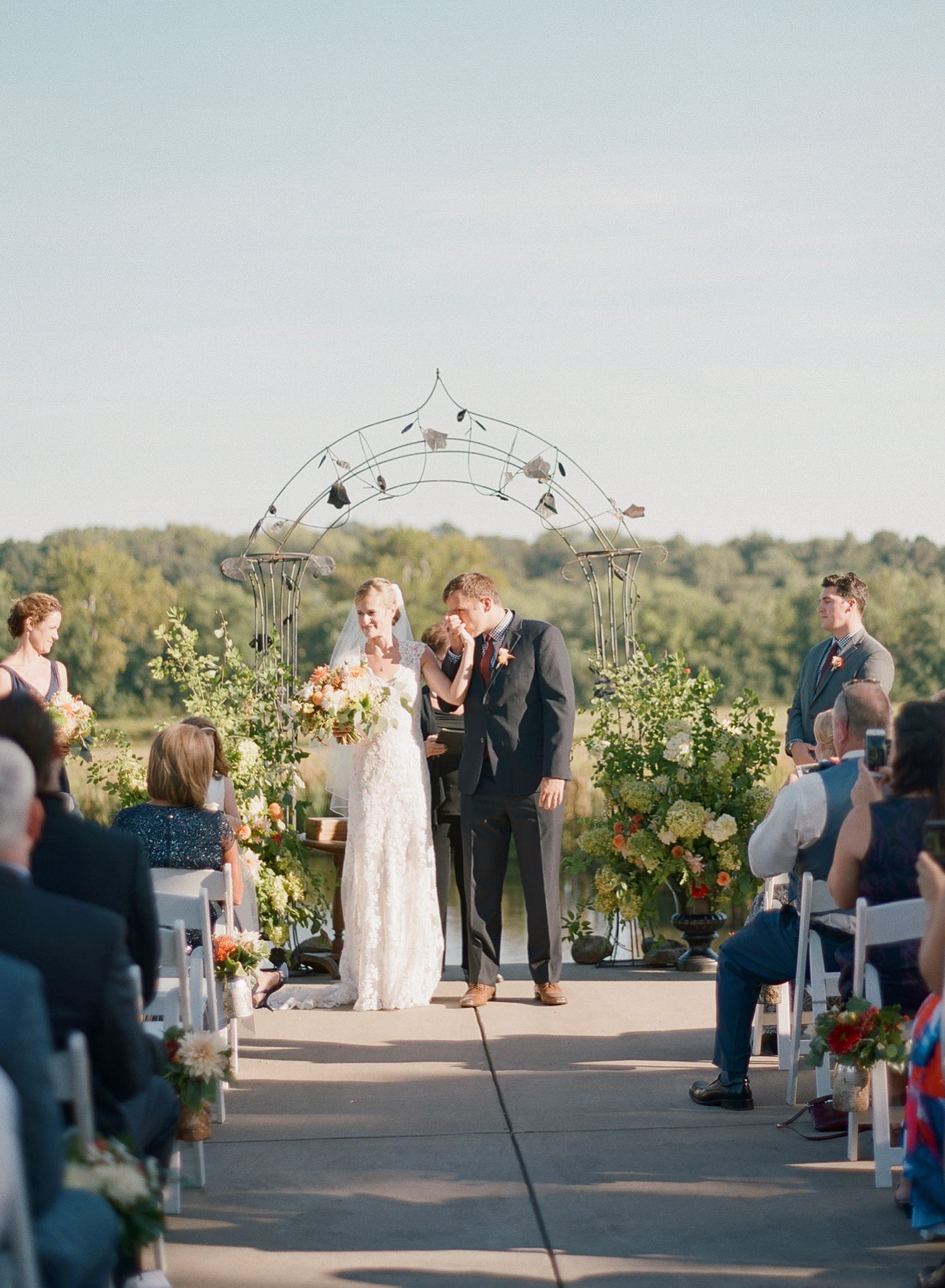 northern virginia outdoor wedding ceremony
