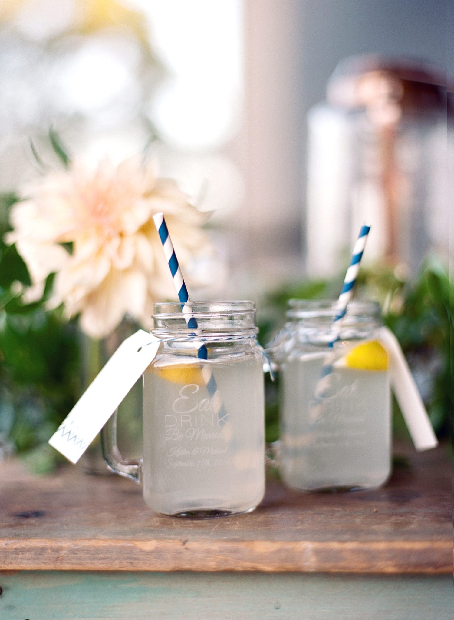 custom wedding jar favors drinks