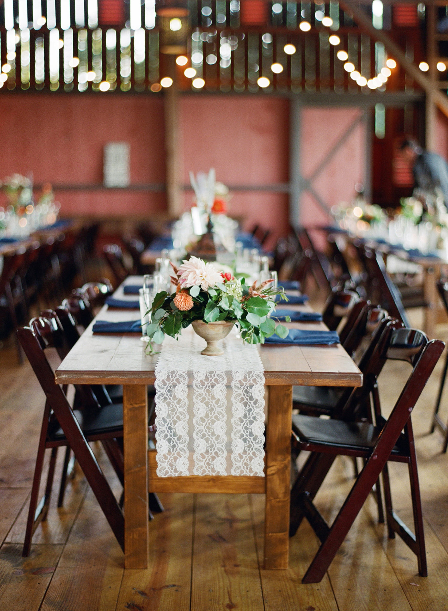 beautiful barn wedding reception virginia