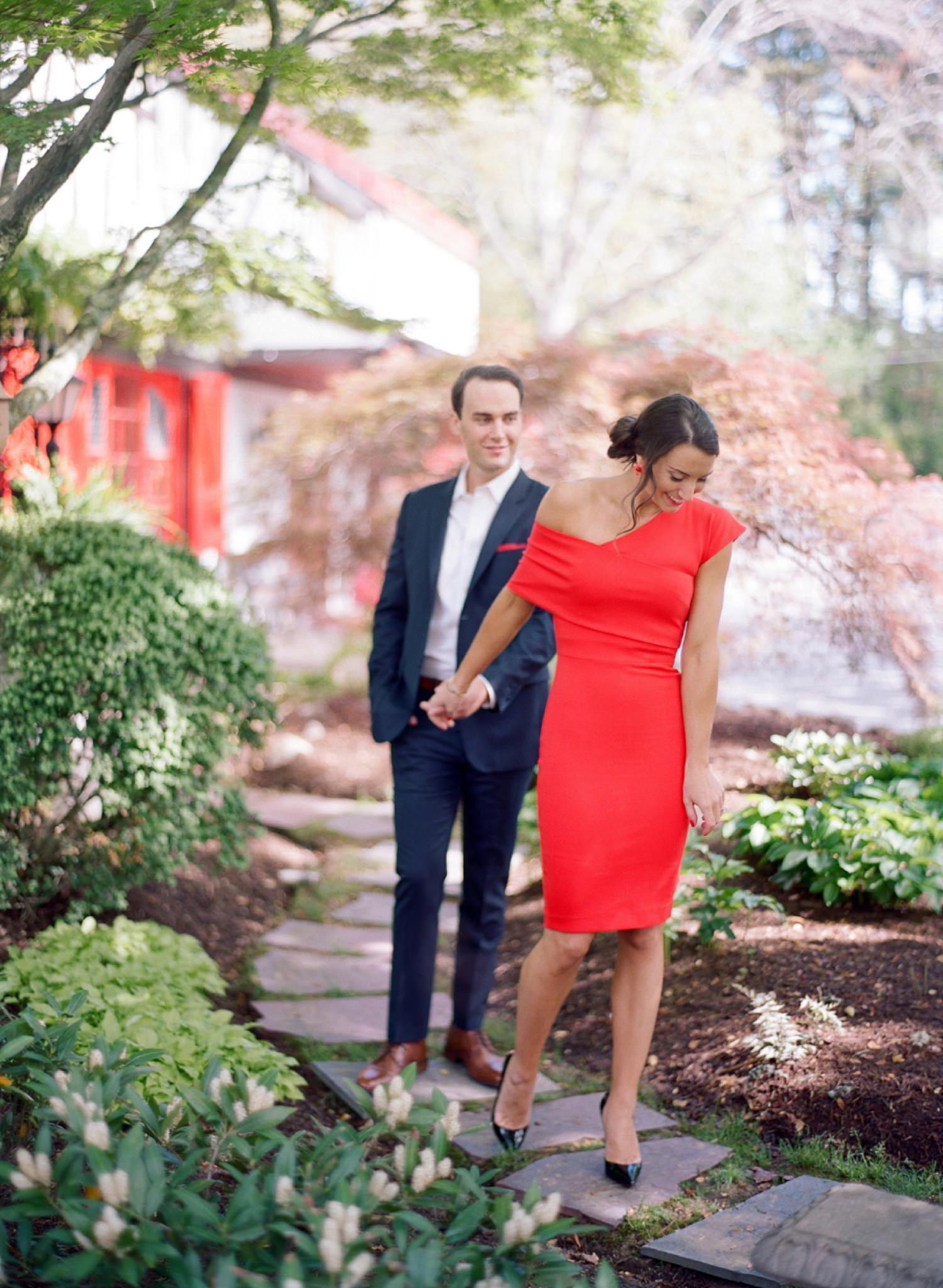 french inspired engagement session