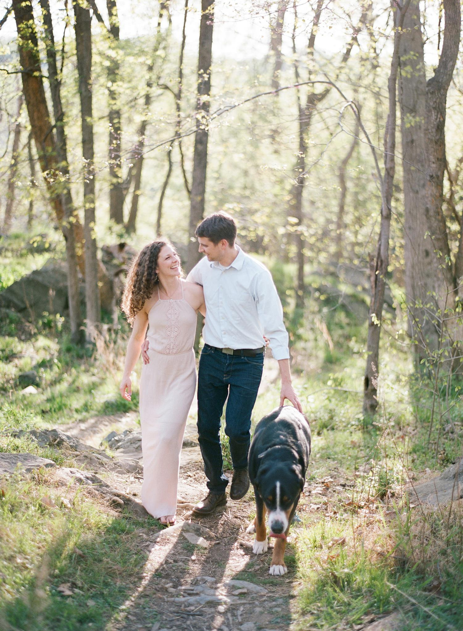 fine art film engagement session in virginia