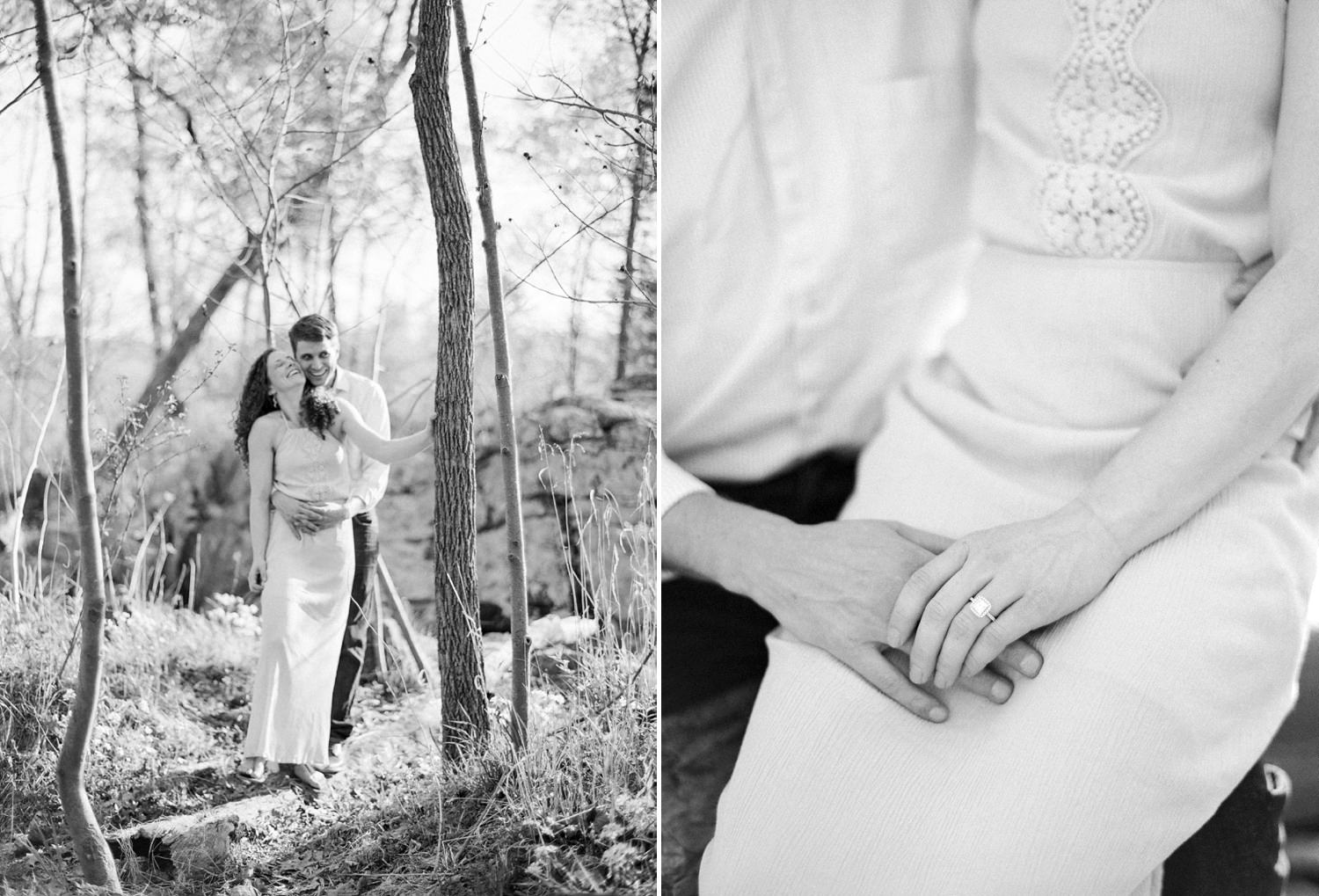 fine art film virginia engagement photographer