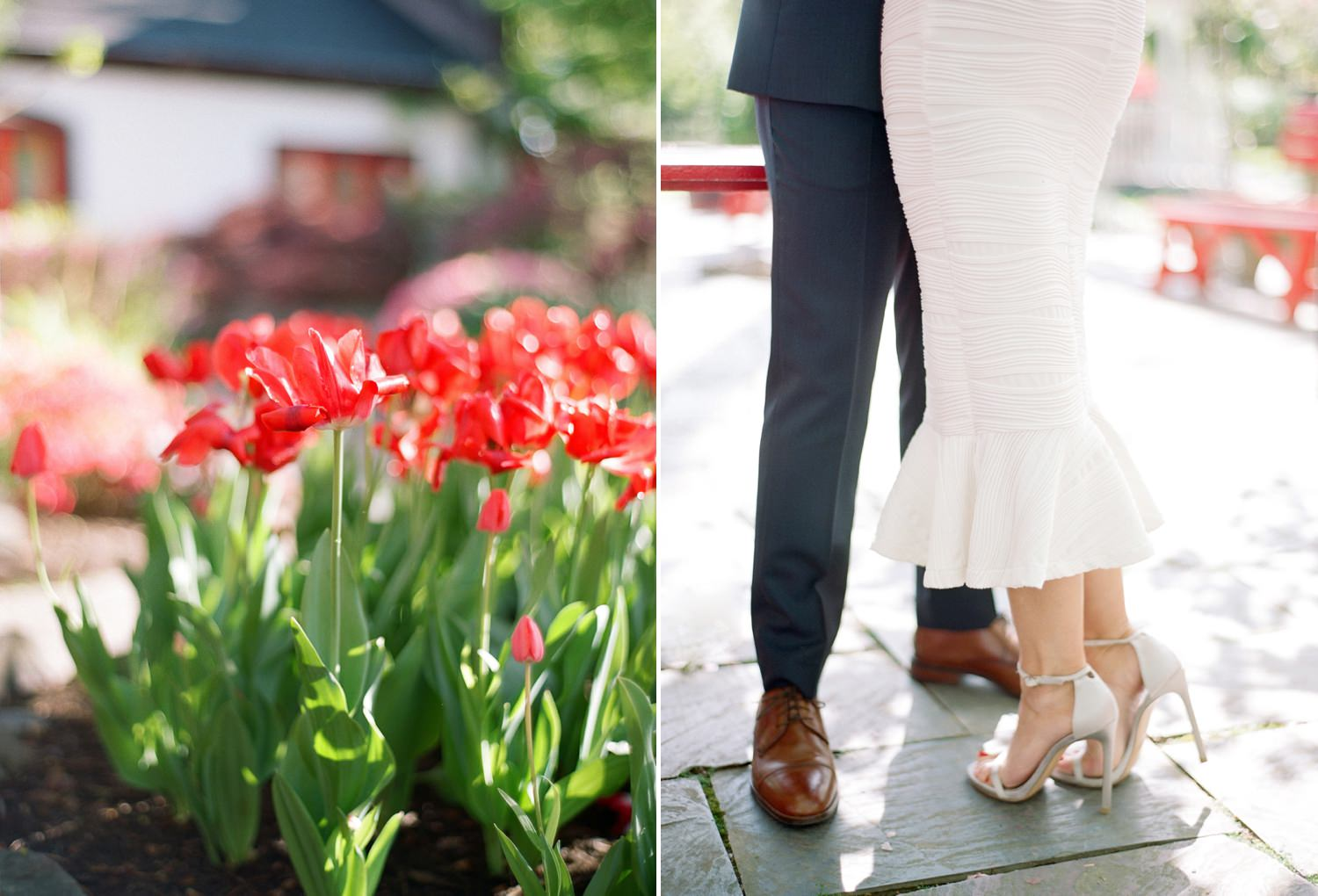 spring engagement session in Virginia