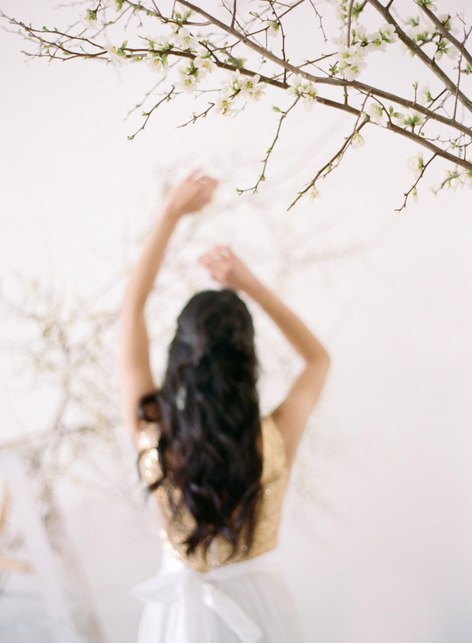 spring lookbook shoot for bridal fashion designer