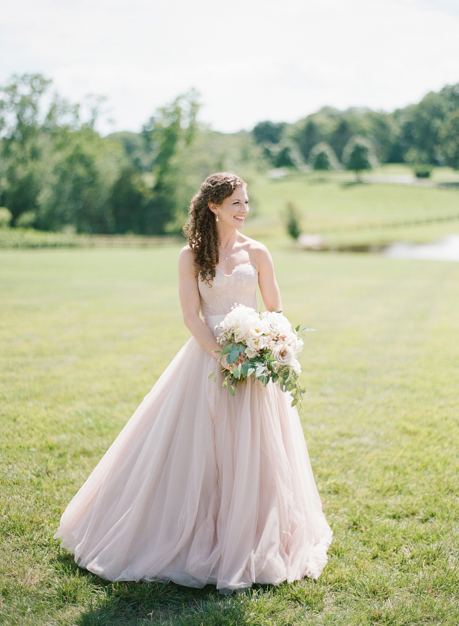 blush bridal dress