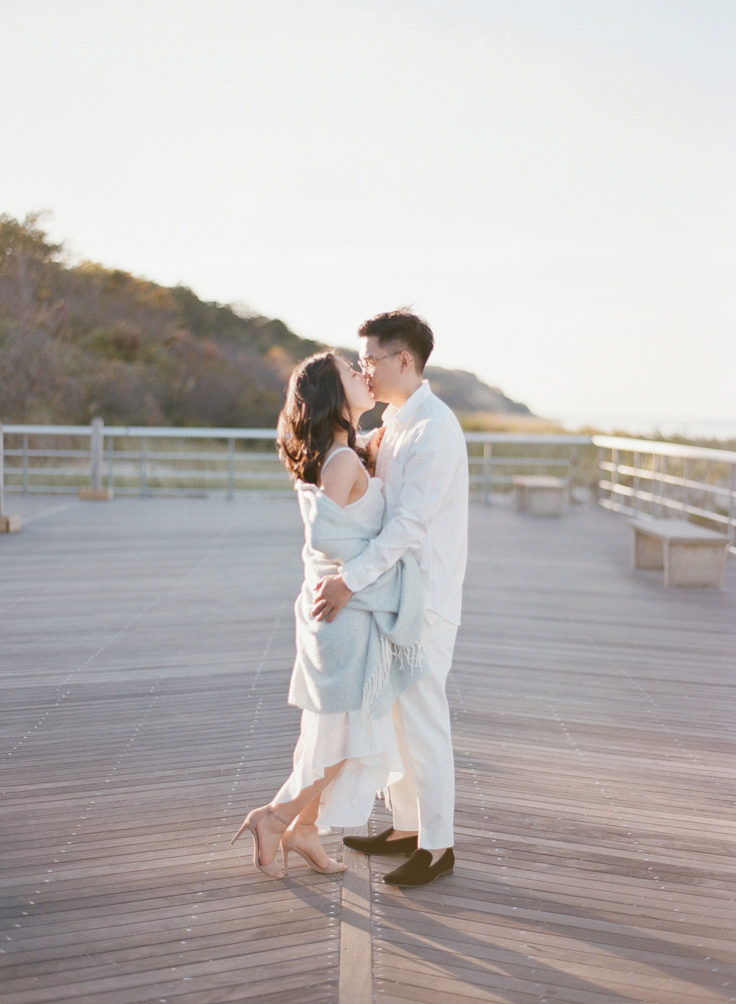 long island beach engagement