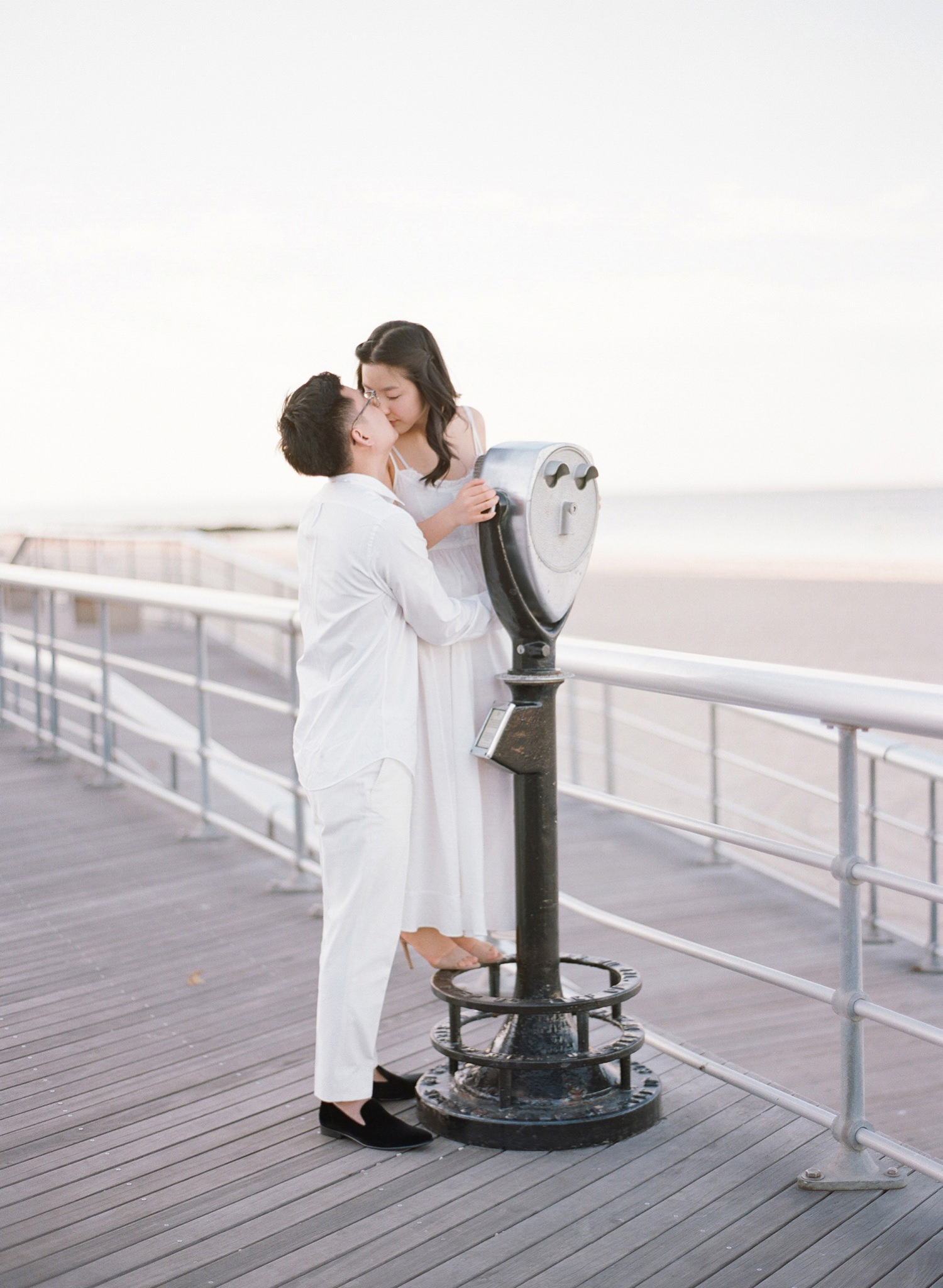 boardwalk engagement session nyc