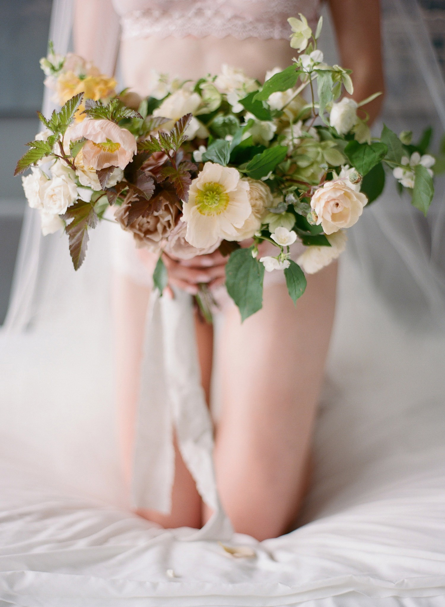 organic bridal boudoir session