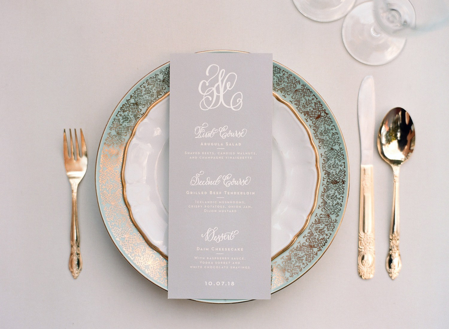 teal and gold wedding inspiration