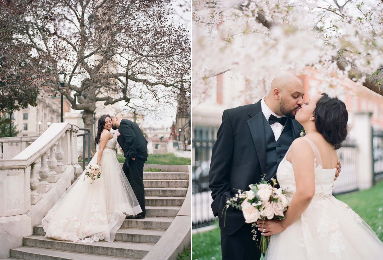 Cherry Blossom Wedding at the George Peabody Library