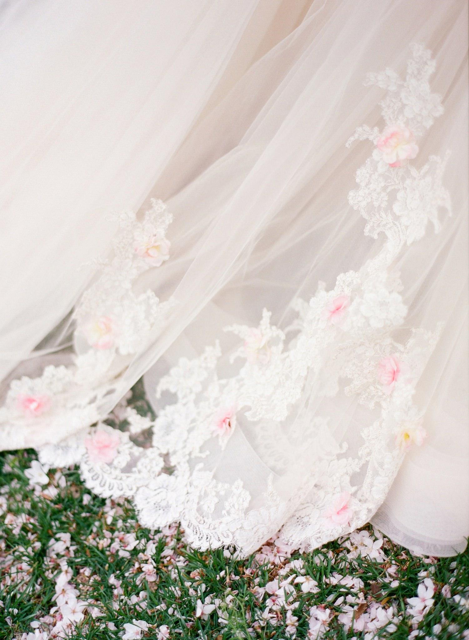 cherry blossom wedding dress