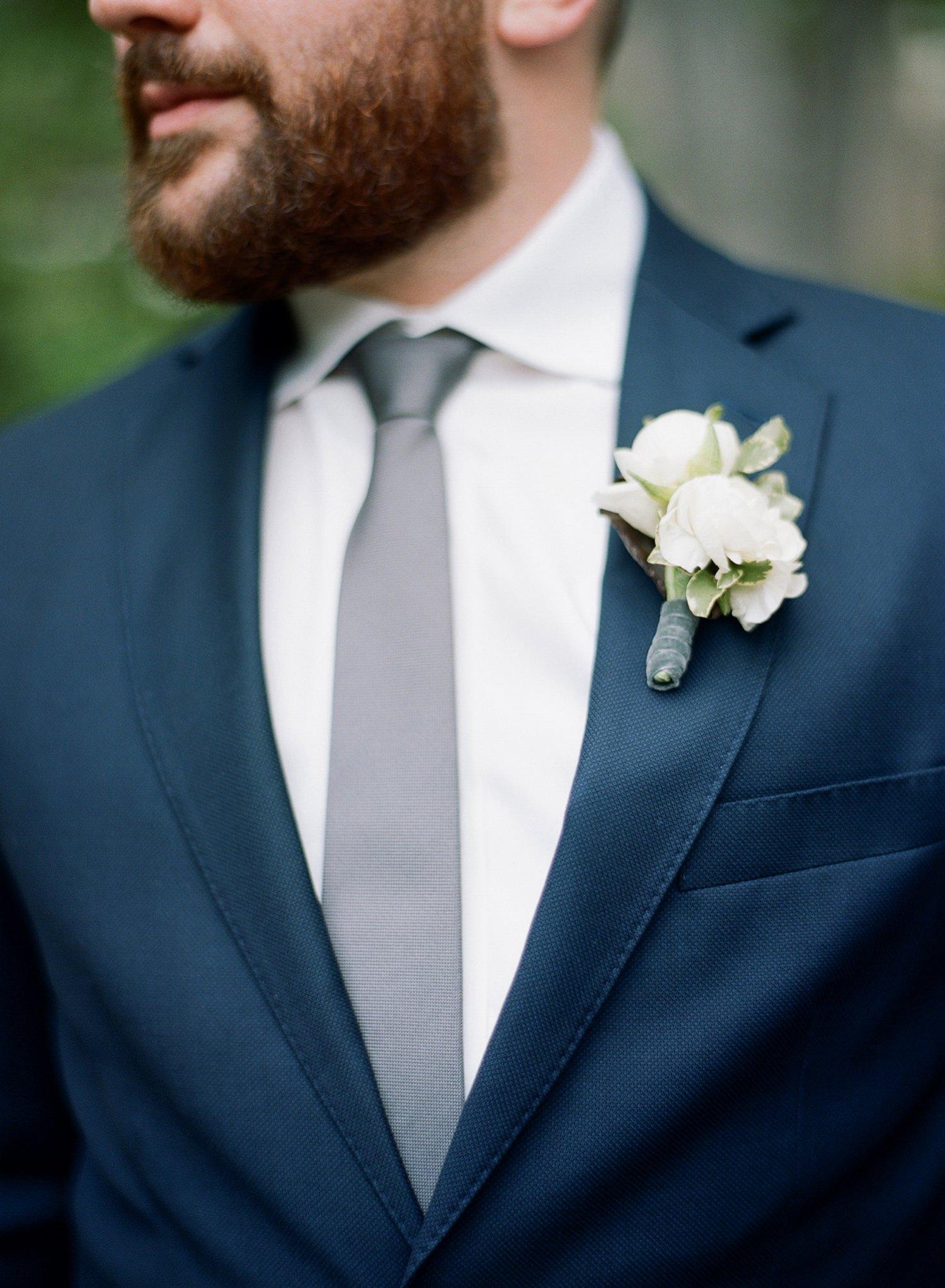 fine art film wedding boutonnieres