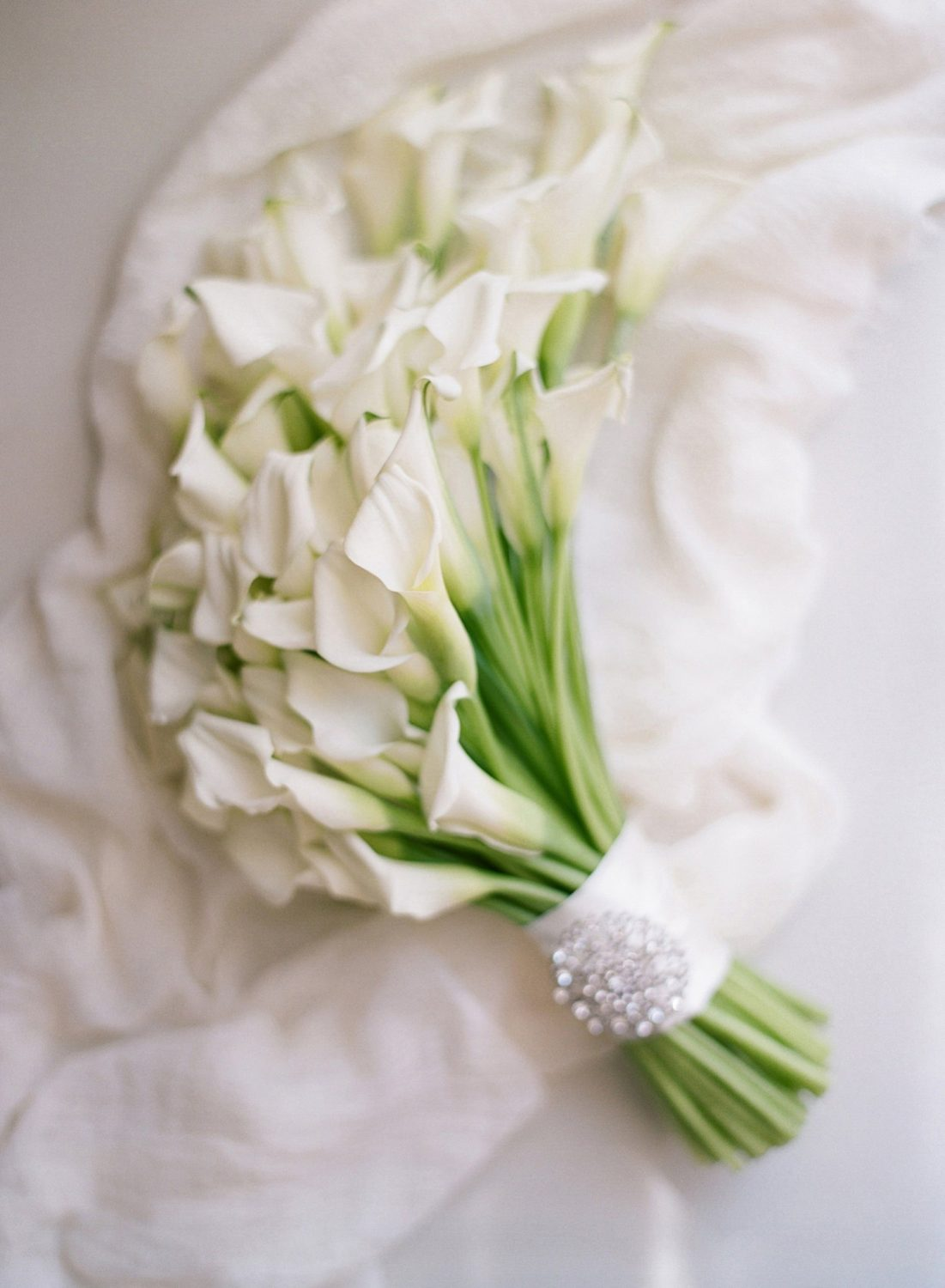 white lily bridal bouquet