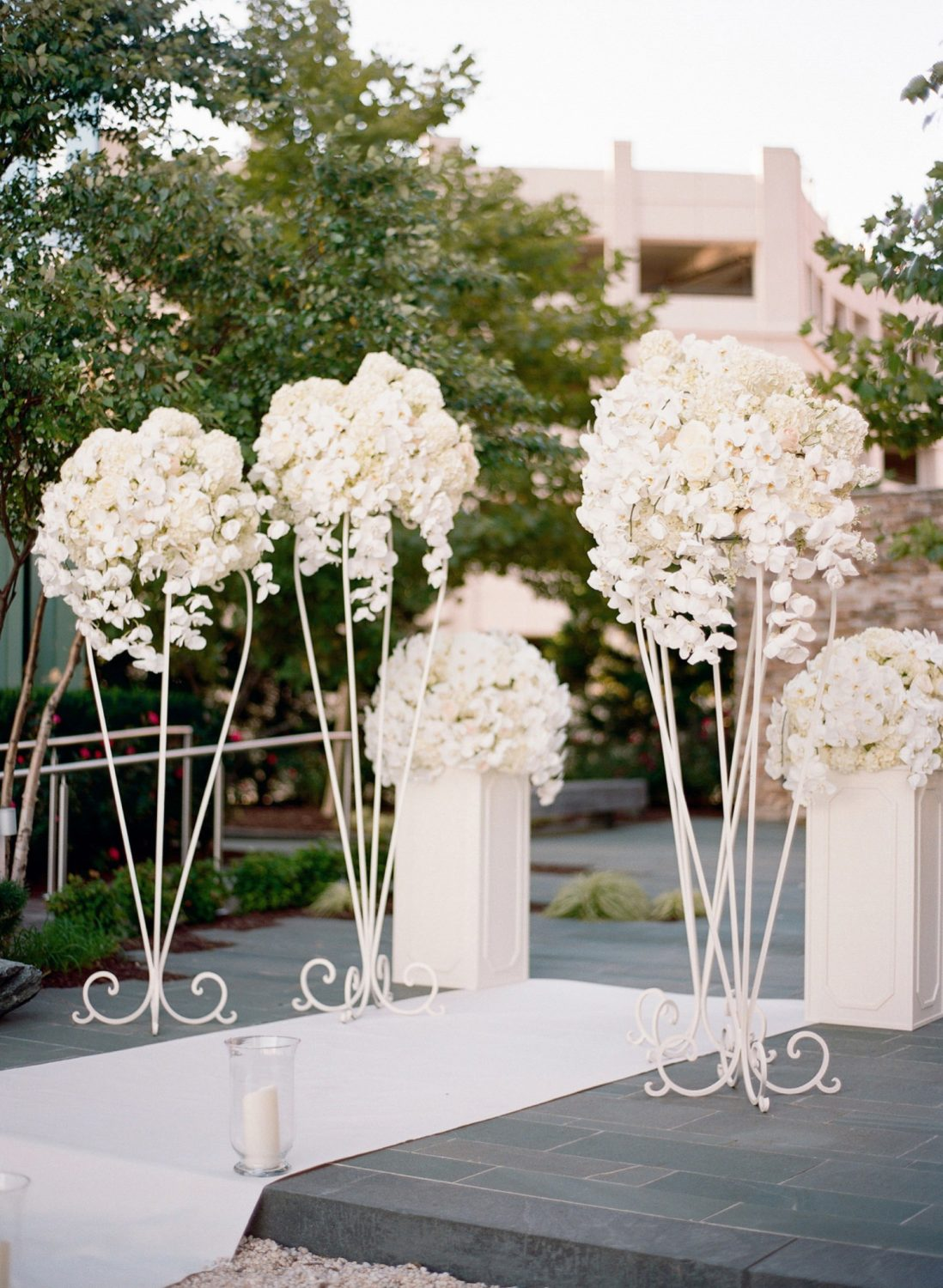 four seasons Baltimore wedding ceremony terrace
