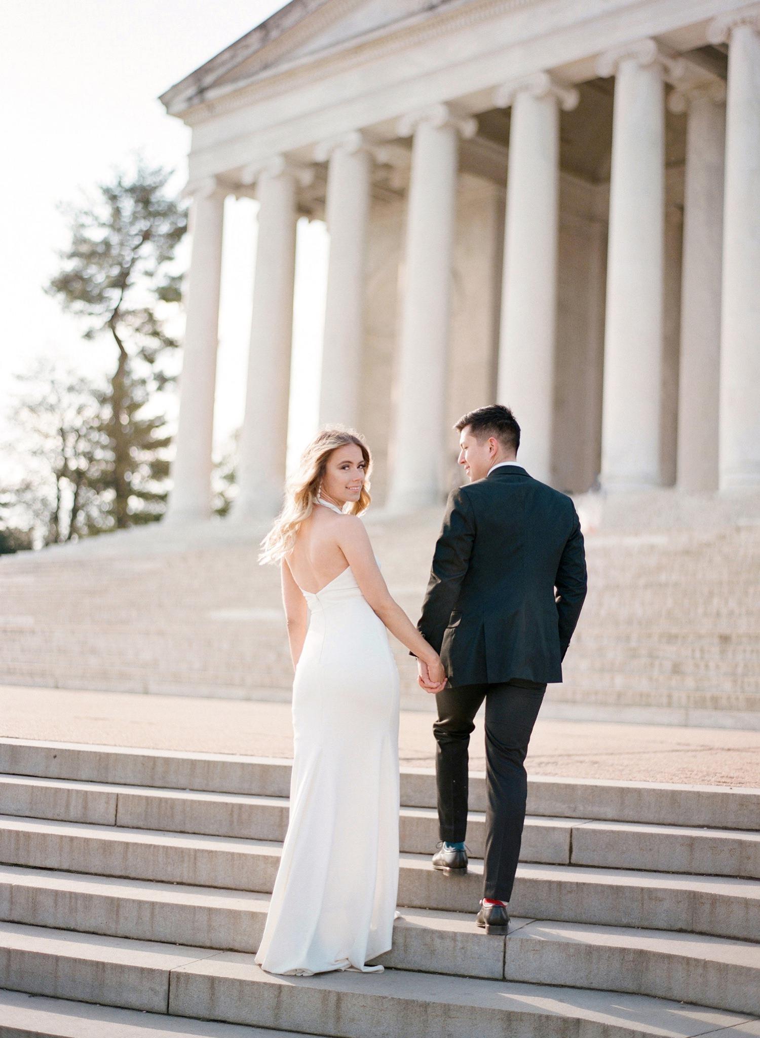 DC monument engagement photos