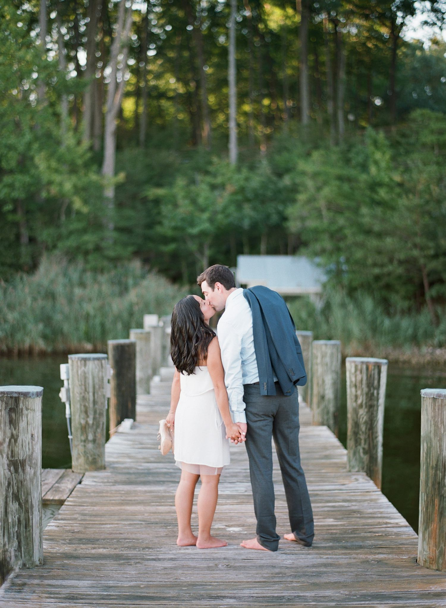 riverside engagement session in maryland
