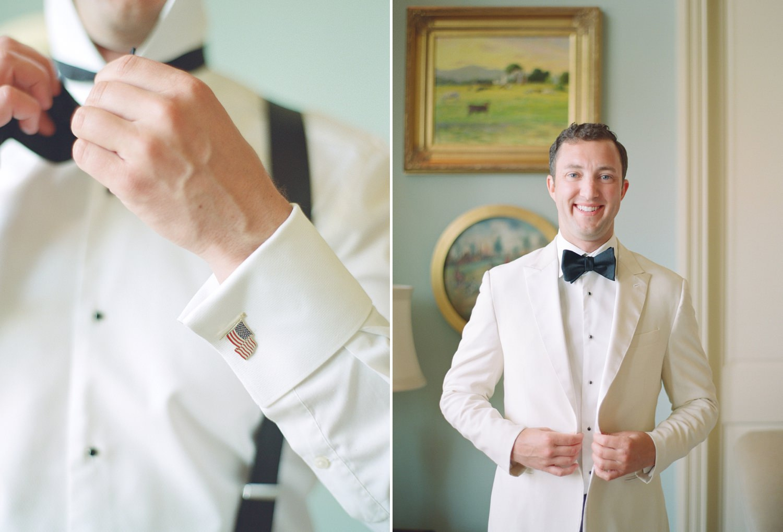 white groom tux