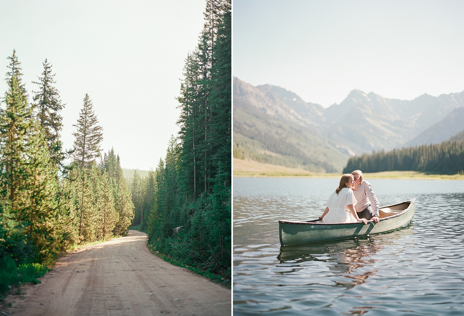 fine art film Colorado engagement photos