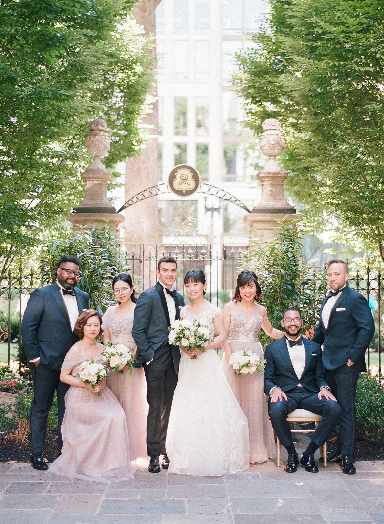 St. Regis DC wedding party photos