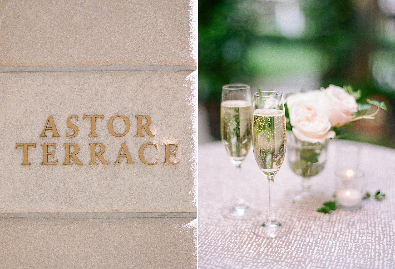Astor Terrace St. Regis DC wedding