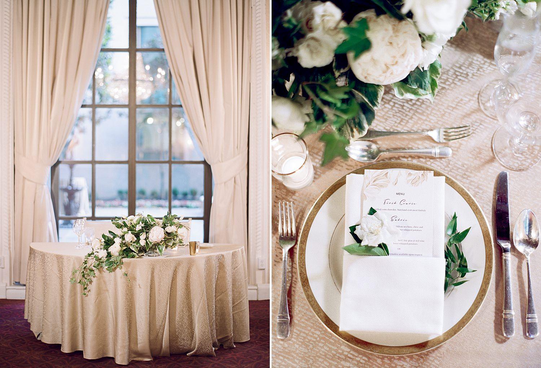 St. Regis DC wedding reception decor